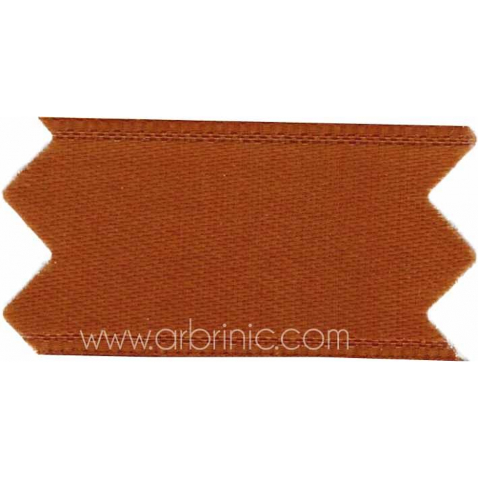 Satin Ribbon double face 25mm Chocolate Brown (by meter)