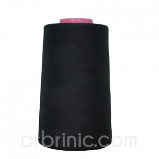 Polyester Serger and sewing Thread Cone (4573m) Black