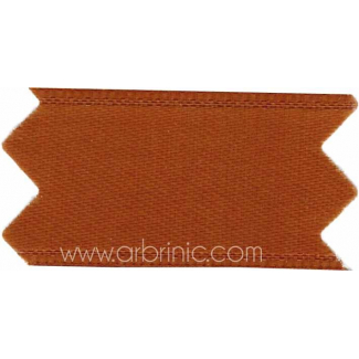 Satin Ribbon double face 11mm Chocolate Brown (by meter)