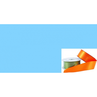 Satin Ribbon 38mm Light Blue (20m roll)