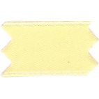 Satin Ribbon double face 25mm Light Yellow (by meter)