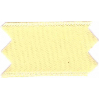 Ruban Satin double face 25mm Jaune Clair (au mètre)