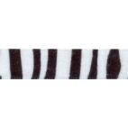 Velvet Ribbon 25mm Zebra (by meter)