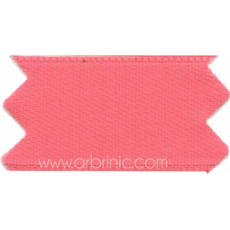 Satin Ribbon double face 25mm Candy Pink (by meter)