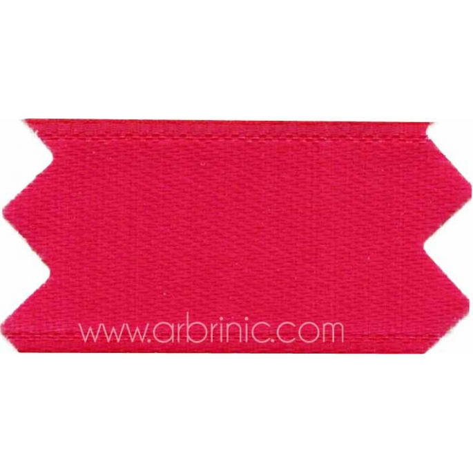 Satin Ribbon double face 25mm Raspberry Pink (by meter)