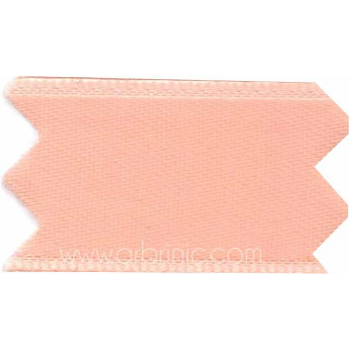 Satin Ribbon double face 25mm Peach Pink (by meter)