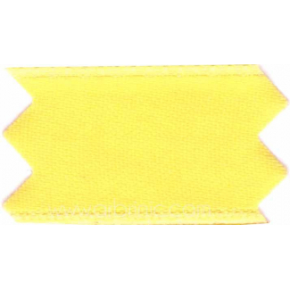 Ruban Satin double face 25mm Jaune Citron (au mètre)