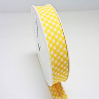 Single Fold Bias Check Yellow 20mm (by meter)