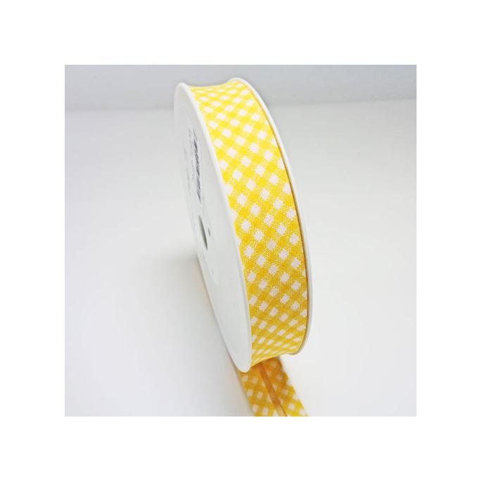 Single Fold Bias Check Yellow 20mm (by meter)