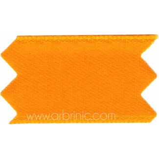 Satin Ribbon double face 11mm Orange (by meter)