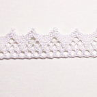 Lace ribbon 100% cotton 15mm White (by meter)