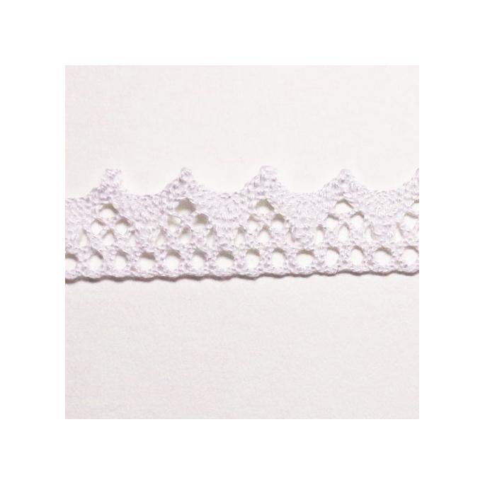 Dentelle 100% coton 15mm Blanc (au mètre)