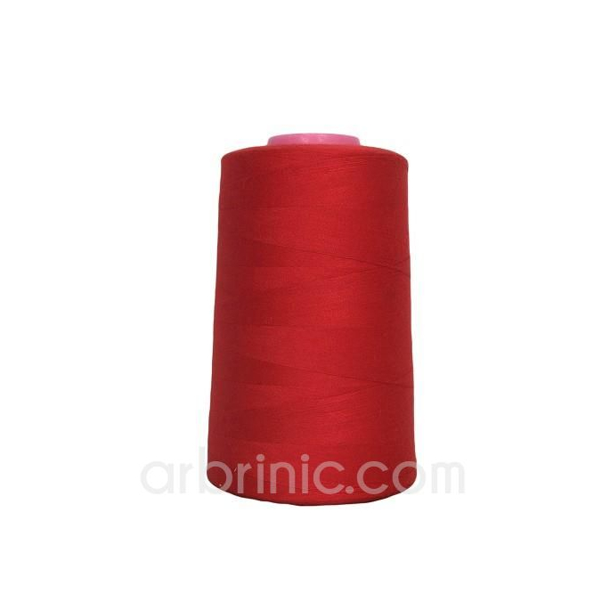 Polyester Serger and sewing Thread Cone (4573m) Red
