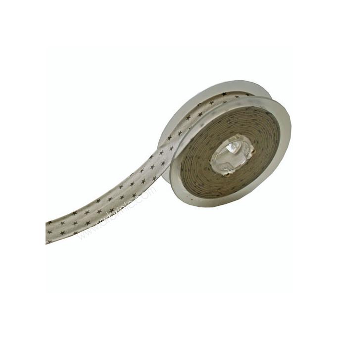 Single Fold Bias Stars Grey on Light Grey 20mm (12m roll)