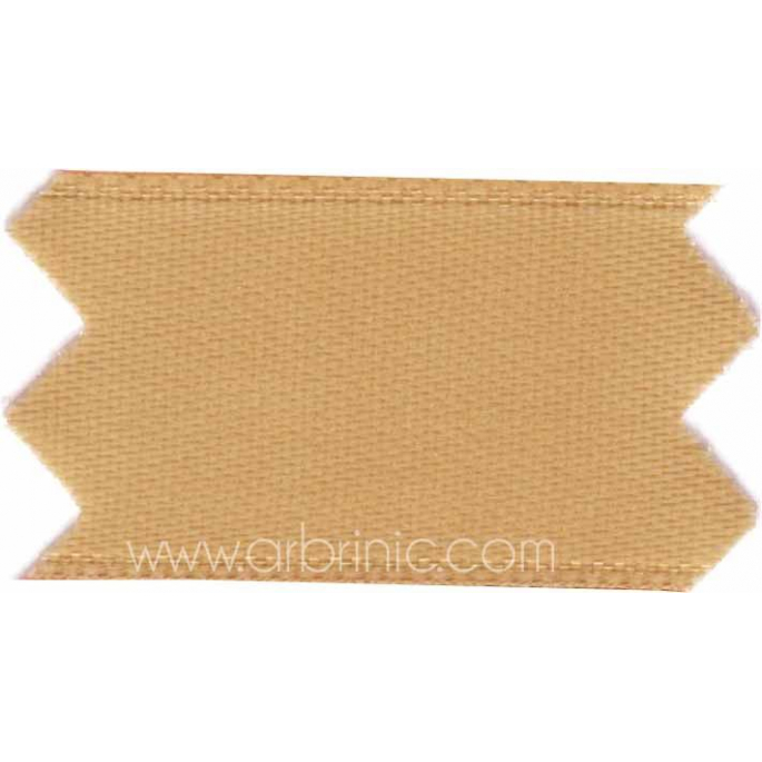 Satin Ribbon double face 25mm Light brown (by meter)