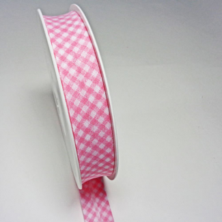 Single Fold Bias Check Pink 20mm (by meter)