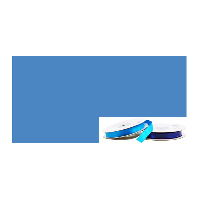 Satin Ribbon 13mm Medium Blue (20m roll)