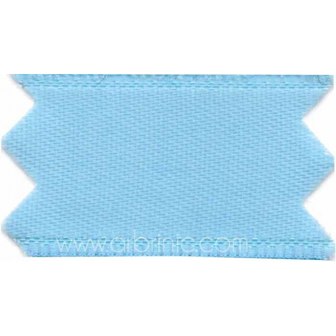 Satin Ribbon double face 11mm Light Blue (by meter)