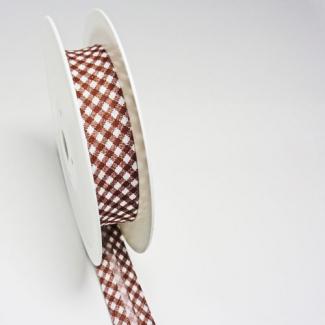 Single Fold Bias Check Brown 20mm (by meter)