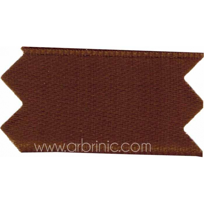 Satin Ribbon double face 11mm Brown (by meter)