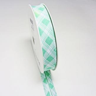 Single Fold Bias Tartan Green 20mm (by meter)