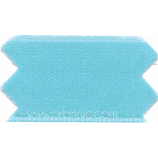 Satin Ribbon double face 25mm Lagoon (by meter)