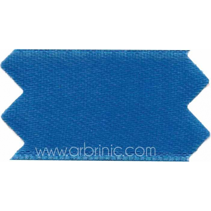 Satin Ribbon double face 25mm Saturn Blue (by meter)