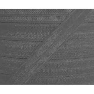 Shinny Fold Over Elastic Oekotex 15mm Grey (25m bobin)