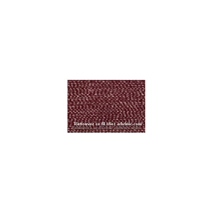 Fil polyester Mettler 200m Couleur n°0166 Haricot Rouge