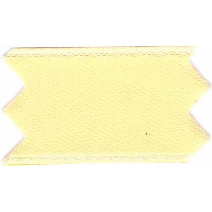 Satin Ribbon double face 11mm Light Yellow (by meter)