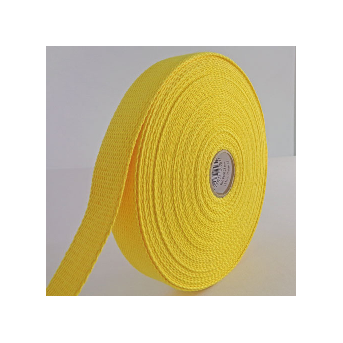 Cotton Webbing 30mm Yellow (15m roll)