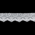 Embroidery White color 34mm (by meter)