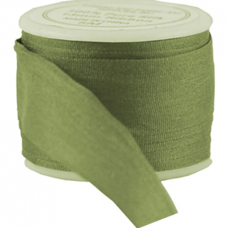 Silk Ribbon 13mm Olive (5m spool)