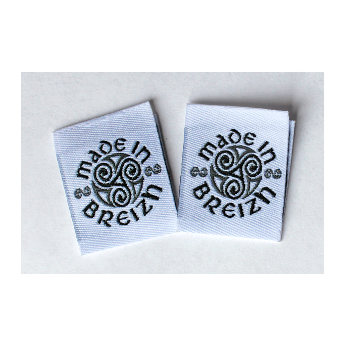 "10 woven labels ""Made in Breizh"""