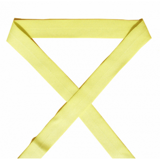 Biais élastique 2.5cm Jaune Vanille (1m)