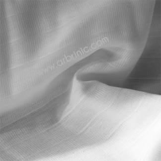 Prefolds fabric Organic cotton gauze White