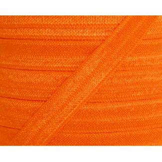 Shinny Fold Over Elastic Oekotex 15mm Orange (by meter)