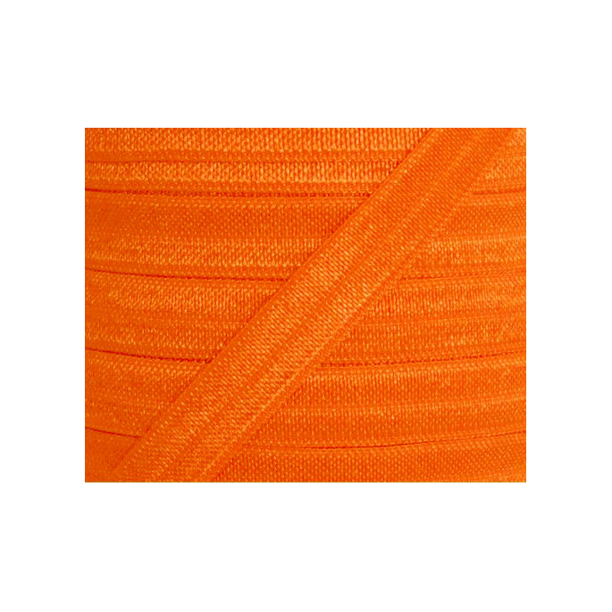 Shinny Fold Over Elastic Oekotex 15mm Orange (by meter)