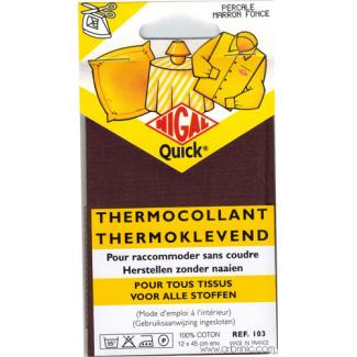 Iron-on mender NIGAL Quick - lightweight cotton Dark Brown