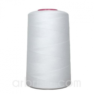Polyester Serger and sewing Thread Cone (4573m) White