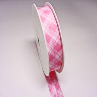 Single Fold Bias Tartan Pink 20mm (by meter)