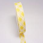 Single Fold Bias Tartan Yellow 20mm (by meter)