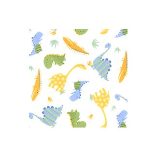 PUL- Dinos allover- cotton laminate (50x55)