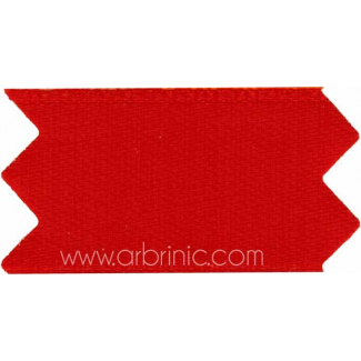 Ruban Satin double face 11mm Rouge (au mètre)
