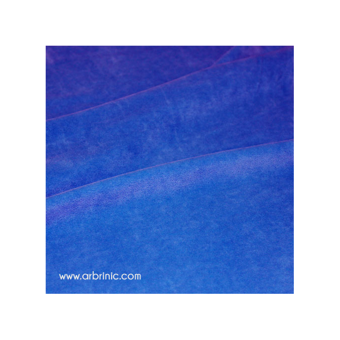 Velours cotton Oekotex Royal Blue (by meter)