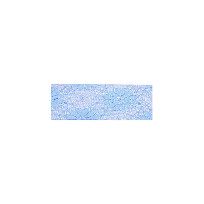 Lace Floral Ribbon 40mm - Blue (by meter)