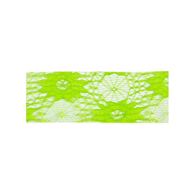 Dentelle Florale 40mm - Vert (au mètre)