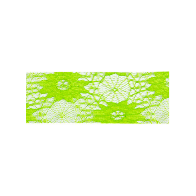 Lace Floral Ribbon 40mm - Green (by meter)