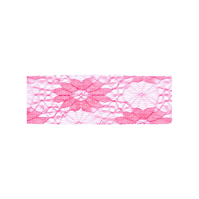 Lace Floral Ribbon 40mm - Pink (by meter)