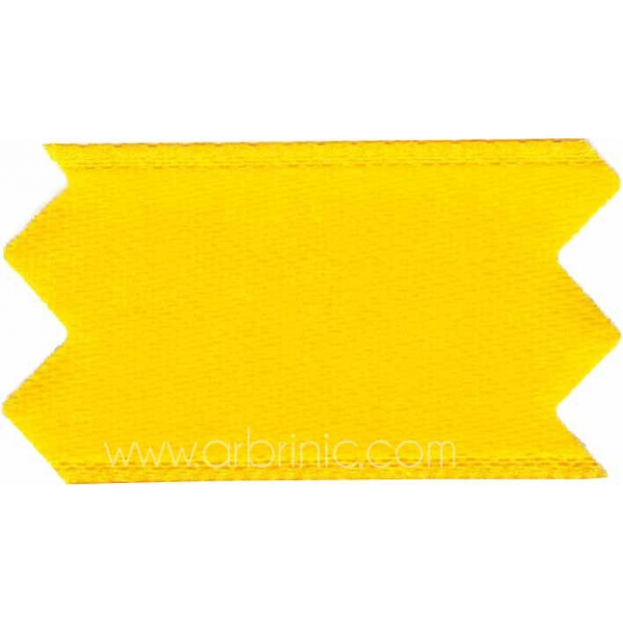 Satin Ribbon double face 25mm Bright Yellow (by meter)